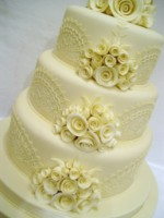 3 tier white chocolate vintage
